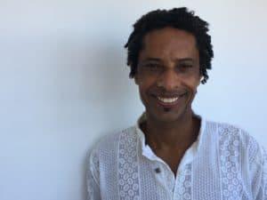 Bira Santos, musician, percussionist, from Salvador, Bahia, Brazil.